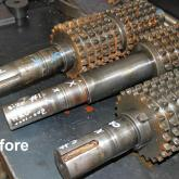 Chain Drive Shafts - Before